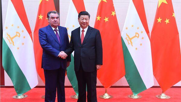 Эмомали Рахмон и Си Цзиньпин - Sputnik Таджикистан