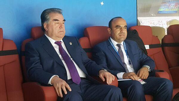 Президент Таджикистана Эмомали Рахмон на открытии чемпионата мира по футболу в Москве - Sputnik Таджикистан
