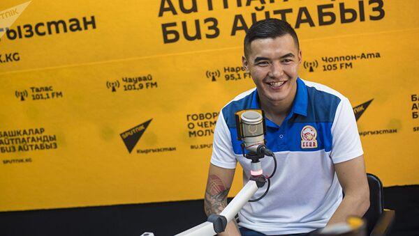 Капитан сборной по футболу Кыргызстана Азамат Байматов - Sputnik Таджикистан