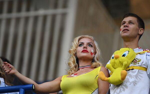 Болельщики сборной Хорватии перед матчем группового этапа чемпионата мира по футболу между сборными Хорватии и Нигерии - Sputnik Таджикистан