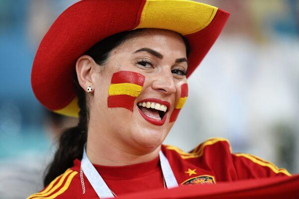İspan qadın azarkeş Portuqaliya ilə oyundan əvvəl - Sputnik Таджикистан
