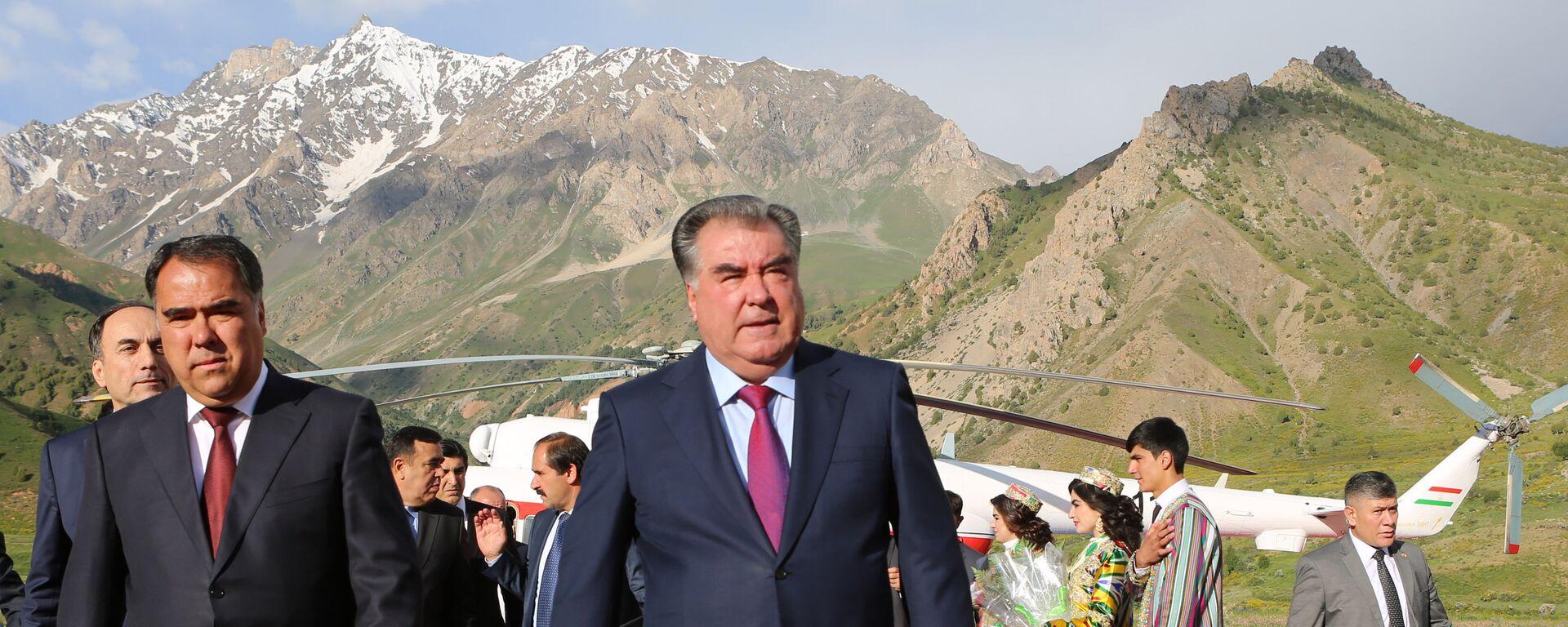 Визит Эмомали Рахмона в Согдийскую область - Sputnik Таджикистан, 1920, 31.03.2021