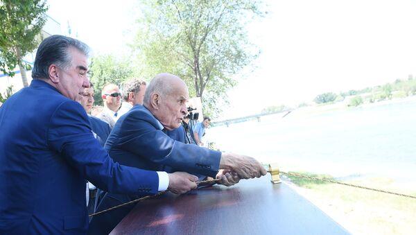 Глава Таджикистана Эмомали Рахмон выпустил в воды Сирдарьи 20 тысяч рыб - Sputnik Таджикистан