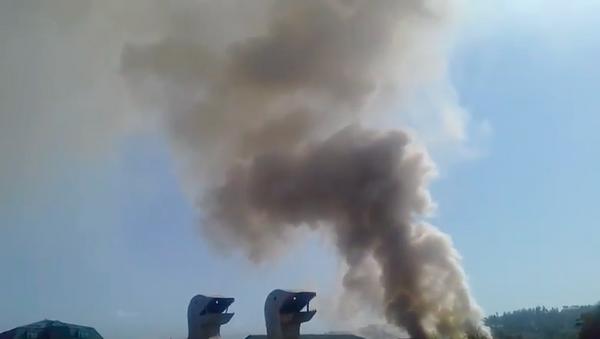 Пожар в кафе Шукрона в Душанбе - Sputnik Тоҷикистон