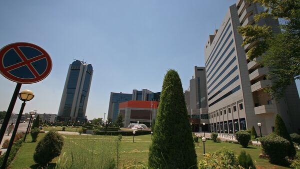 ЦБ Узбекистана и Международный бизнес-центр Интерконтиненталь Ташкент - Sputnik Таджикистан