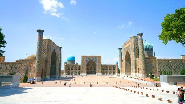 Архитектурный комплекс Регистан в Самарканде, архивное фото - Sputnik Тоҷикистон