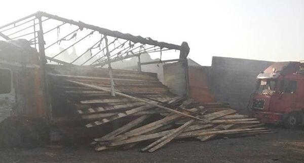 Пожар и взрыв на АЗС в селе Жаштык неподалеку от границы с Таджикистаном произошли вечером 4 июля. - Sputnik Таджикистан