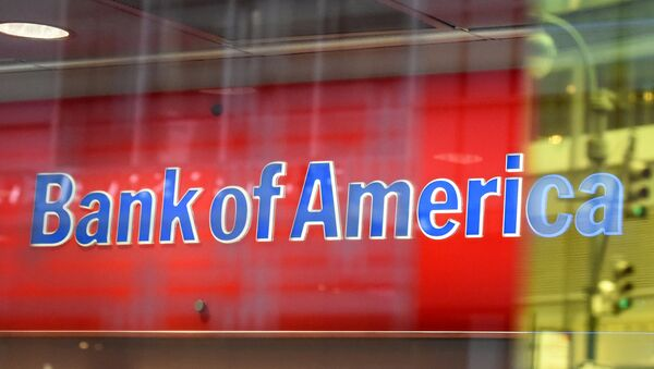 Логотип Bank of America в Нью-Йорке - Sputnik Таджикистан