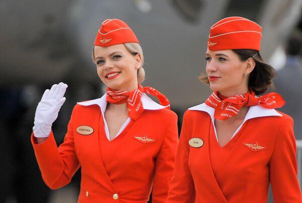 Стюардессы российской авиакомпании Аэрофлот - Sputnik Таджикистан
