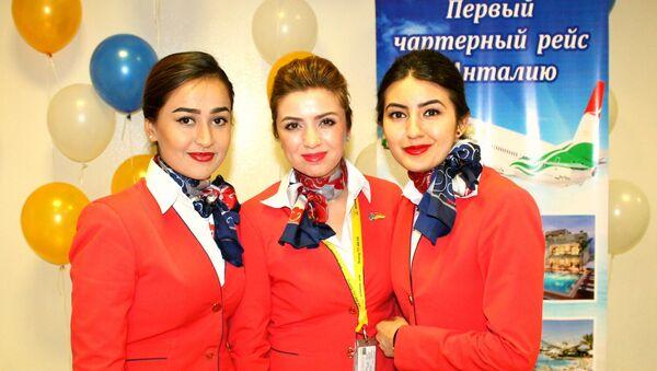Бортпроводники таджикской авиакомпании Somon Air - Sputnik Таджикистан