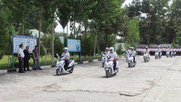 ДПС Душанбе получила скутеры из Узбекистана - Sputnik Таджикистан