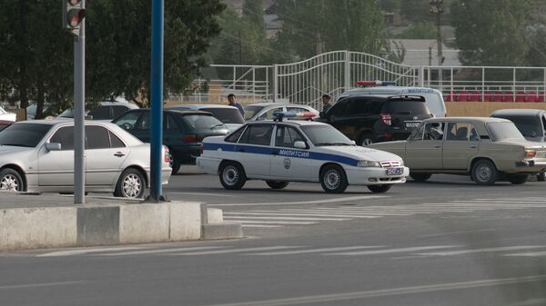 Машина милиции в Таджикистане, архивное фото - Sputnik Тоҷикистон