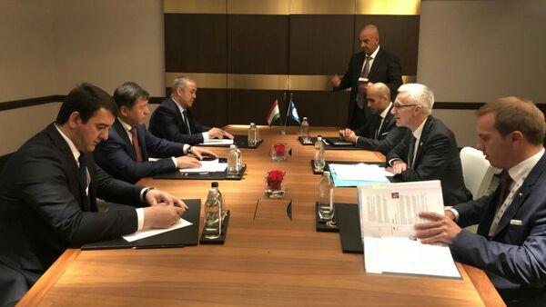 Встреча министра МВД Таджикистана с генеральным секретарем Интерпоая - Sputnik Таджикистан