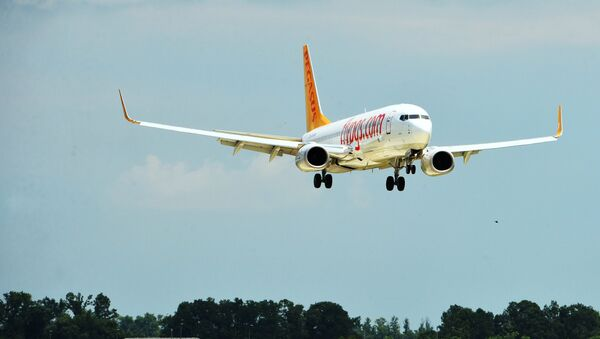 Самолёт Boeing 737-800 авиакомпании Pegasus Airlines, архивное фото - Sputnik Тоҷикистон