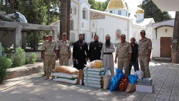 Военнослужащие 201-й РВБ оказали гуманитарную помощь участникам горно-спортивного клуба Кондор - Sputnik Таджикистан