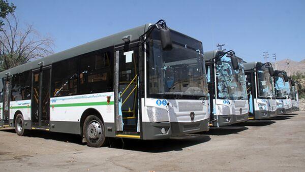 Автобусы в автопарке, архивное фото - Sputnik Тоҷикистон