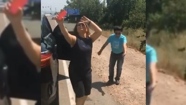 Танец Юлдуз Усмановой на дороге - Sputnik Тоҷикистон