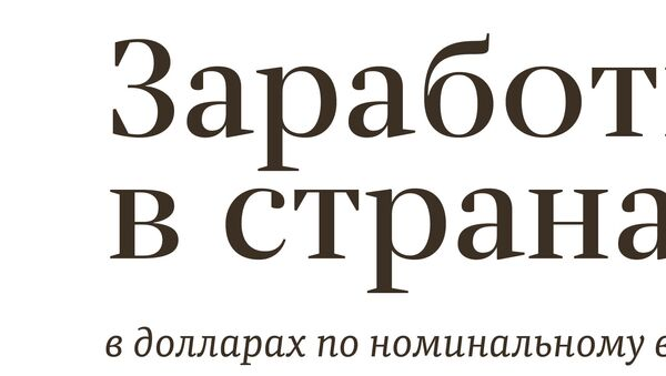 Заработная плата в странах СНГ - Sputnik Таджикистан