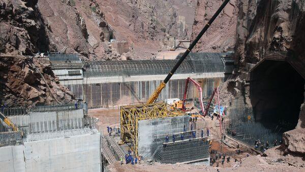 На стройплощадке Рогунской ГЭС - Sputnik Таджикистан