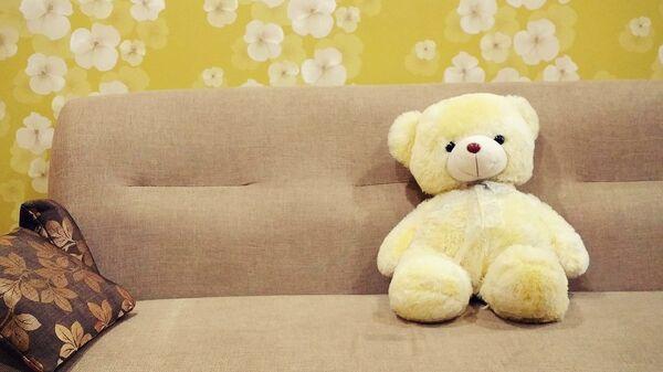 Медвежонок на диване, архивное фото - Sputnik Таджикистан