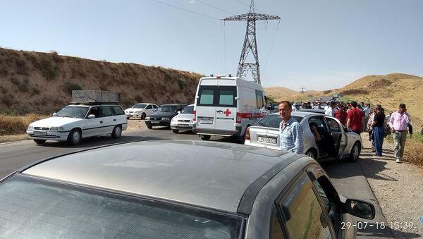 Место трагедии в Таджикистане где погибли иностранные туристы - Sputnik Тоҷикистон