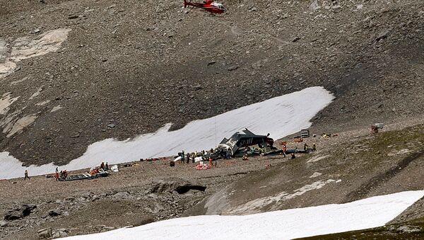 Самолёт JU 52 с регистрационным номером HB-HOT, разбившийся в Швейцарских Альпах - Sputnik Таджикистан