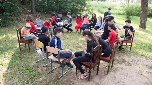 Летний лагерь РОО Нур - Sputnik Таджикистан