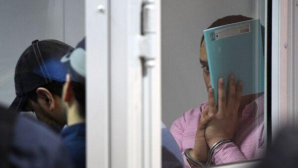 Члены банды ГТА/GTA, обвиняемые в серии убийств водителей, в Мособлсуде во время оглашения приговора - Sputnik Таджикистан