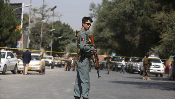 Офицер полиции в Афганистане, архивное фото - Sputnik Тоҷикистон