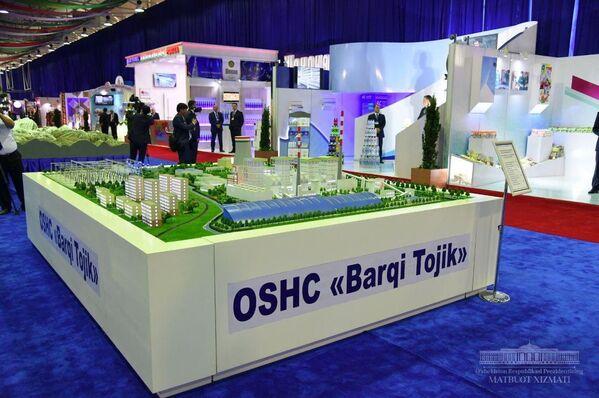 Макет городского района на выставке в Республике Узбекистан - Sputnik Таджикистан