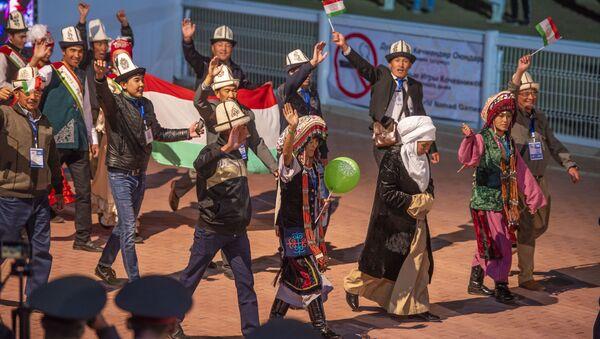 Памирские кыргызы на церемонии открытия Всемирных игр кочевников-2018 - Sputnik Таджикистан