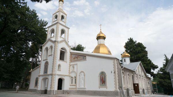 Кафедральный собор Душанбинской и Таджикистанской епархии Русской православной церкви - Sputnik Тоҷикистон