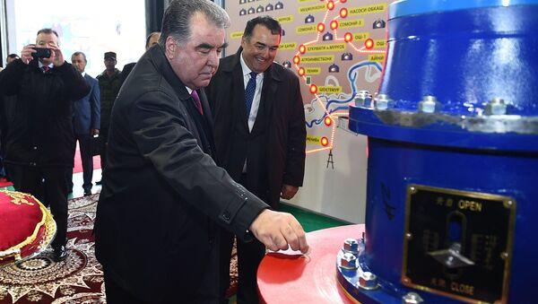 Эмомали Рахмон открыл ГЭС - Sputnik Таджикистан