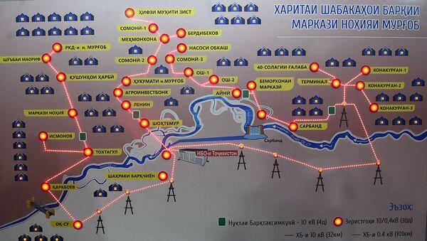 Схема новой электростанции Таджикистнан в Мургабе - Sputnik Тоҷикистон