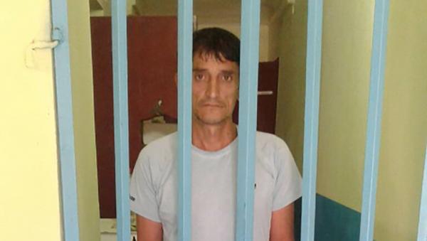 Арестованный Лутфуллоев Бахтиёр  за оскорбление водителя маршрутки в Душанбе - Sputnik Тоҷикистон