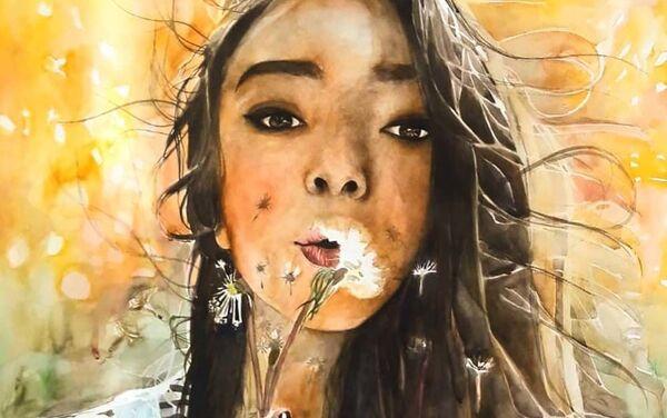 Автопортрет художницы Марифат Давлатовой - Sputnik Таджикистан