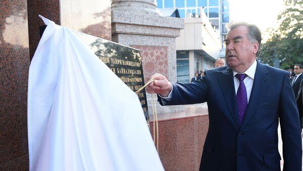 Рахмон открыл зал приема официальных лиц в аэропорту Душанбе - Sputnik Таджикистан