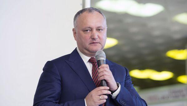Президент Республики Молдовы Игорь Додон - Sputnik Тоҷикистон