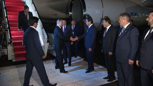 Президент России Владимир Путин прибыл в Душанбе на саммит глав государств СНГ - Sputnik Тоҷикистон