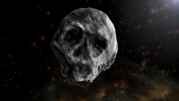 Хэллоуинский астероид TB145 в виде черепа. Архивное фото - Sputnik Таджикистан