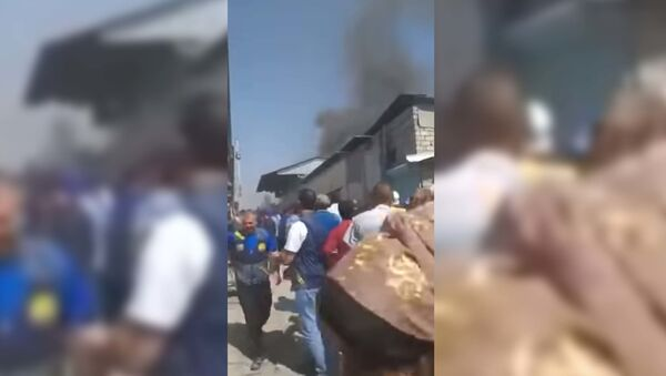 В Душанбе на вещевом рынке Корвон случился пожар - Sputnik Таджикистан