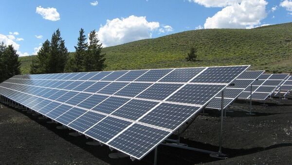 Солнечные батареии, архивное фото - Sputnik Таджикистан