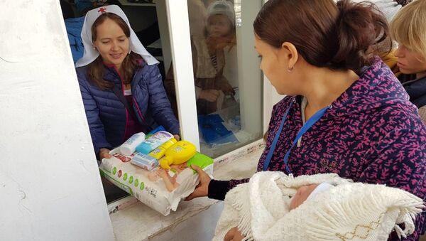 Открытие гуманитарного склада при Свято-Никольском кафедральном соборе г. Душанбе  - Sputnik Тоҷикистон