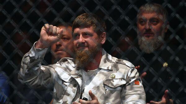 Глава Чечни Рамзан Кадыров на турнире Fight Night в Москве - Sputnik Таджикистан