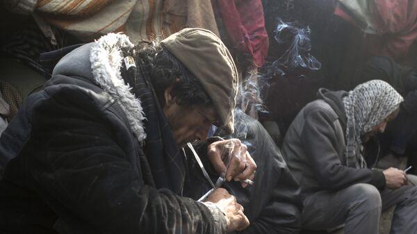 Наркопритон в Кабуле, архивное фото - Sputnik Тоҷикистон