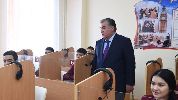 Эмомали Рахмон открыл гимназию номер 1 в городе Худжанде - Sputnik Тоҷикистон