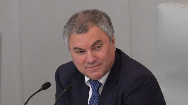 Председатель Государственной думы РФ Вячеслав Володин, архивное фото - Sputnik Тоҷикистон