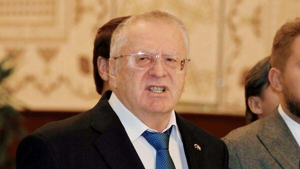 Лидер партии ЛДПР Владимир Жириновский в Таджикистане - Sputnik Тоҷикистон