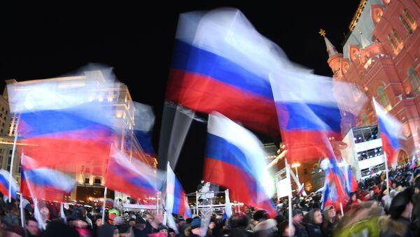 Российские флаги, архивное фото - Sputnik Таджикистан