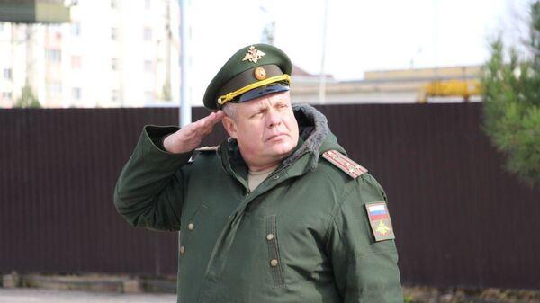 Сергей Горячев, новый командир 201 российской военной базы, дислоцированной на территории Таджикистана, архивное фото - Sputnik Таджикистан